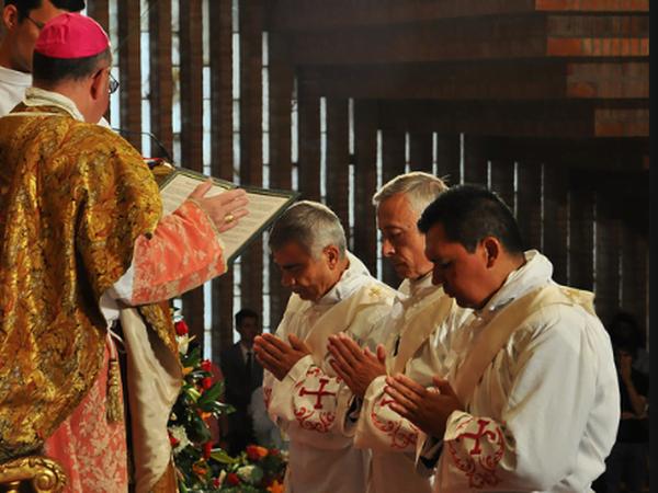 Tres nuevos sacerdotes ordenados hoy en Torreciudad, un mexicano entre ellos.