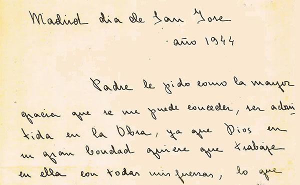 Opus Dei - #TalDíaComoHoy 19 de marzo de 1944