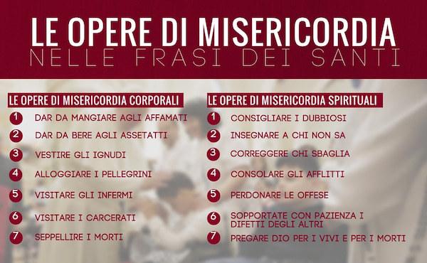 Super Frasi dei santi sulle opere di misericordia - Opus Dei TG58