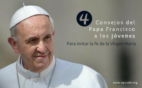 Quatro conselhos do Papa Francisco aos jovens