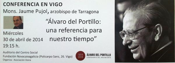 Opus Dei - Conferencia en Vigo sobre D. Álvaro del Portillo