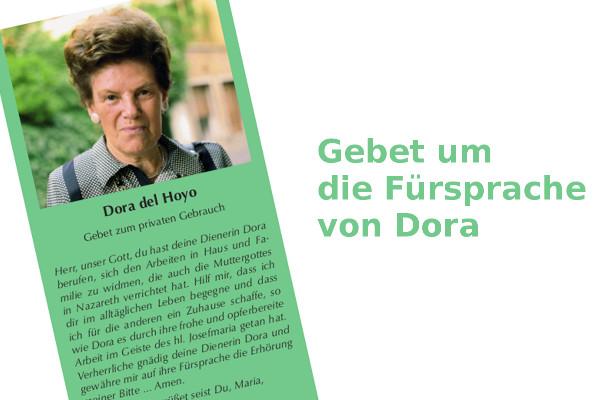 Opus Dei - Gebetszettel Dora