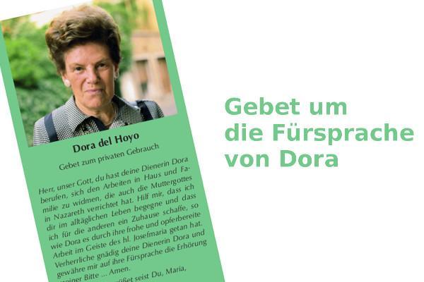Gebetszettel Dora