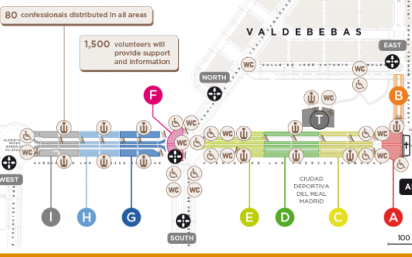 Map of Valdebebas for the Beatification