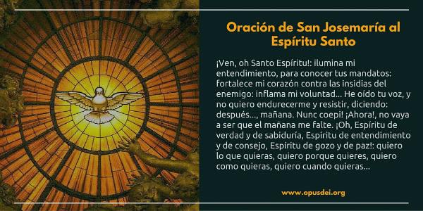 Opus Dei - Oración de San Josemaría al Espíritu Santo
