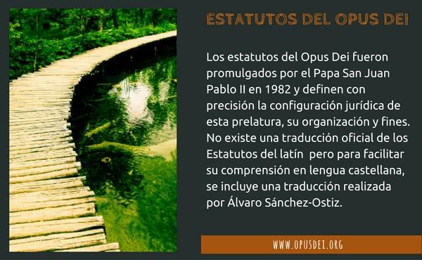 Opus Dei - Estatutos del Opus Dei