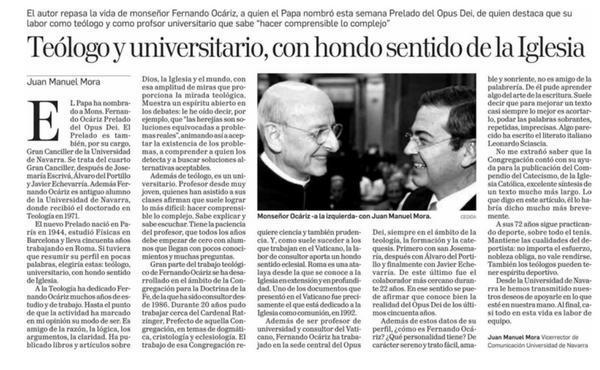 Opus Dei - Teólogo y universitario, con hondo sentido de la Iglesia