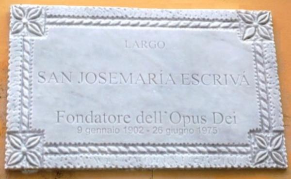 Un Largo cittadino intitolato a San Josemaría a Vibo Valentia