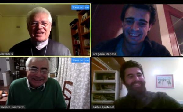 Jóvenes conversaron con monseñor Alberto Lorenzelli