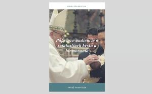 Elektronická kniha: texty svätého Otca Františka o sviatostiach krstu a birmovania