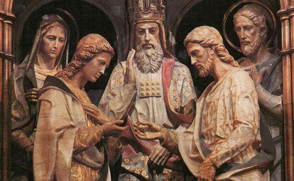 圣母与若瑟的订婚:教会训导,圣人