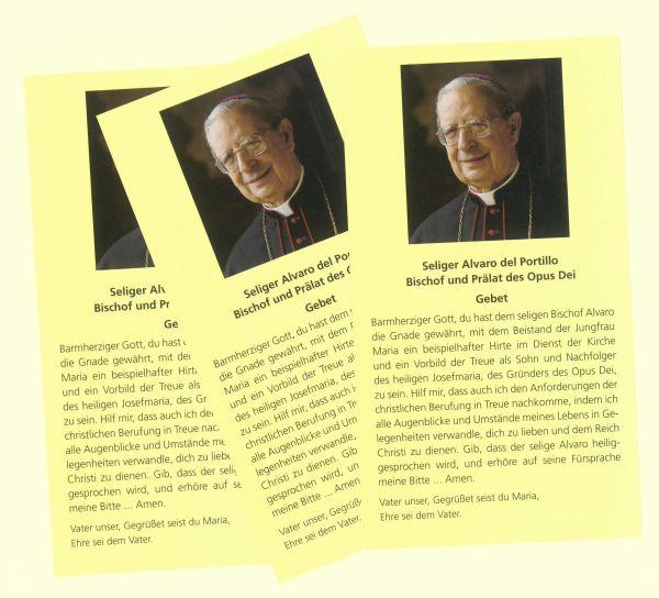 Opus Dei - Gebetszettel Don Alvaro
