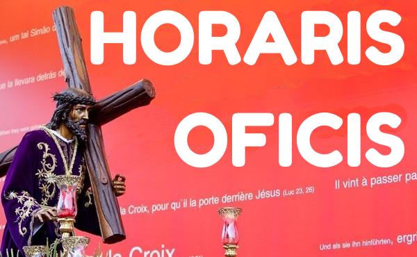 Horaris oficis #SetmanaSantaACasa