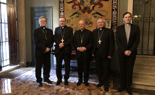 Opus Dei - Obisk slovenskih škofov pri prelatu Opus Dei