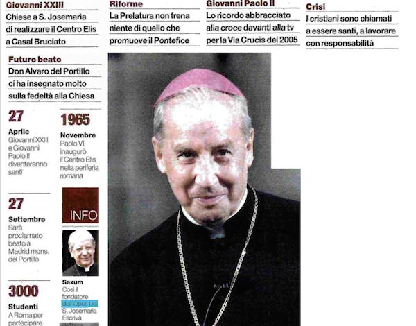 "Opus Dei - ""I gesti di Papa Francesco? Rivoluzionari perché autentici"""