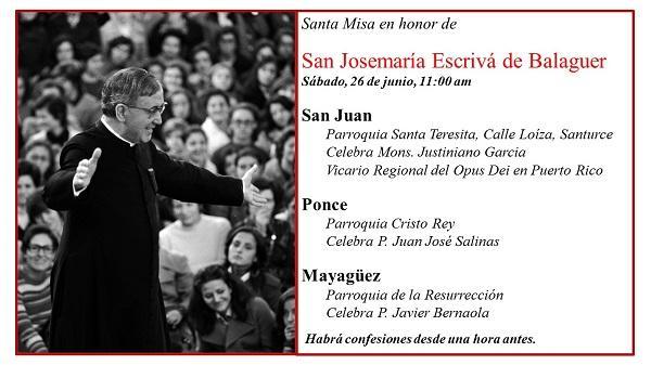 Misas en la fiesta de San Josemaría en Puerto Rico (2021)