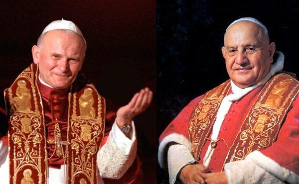 Twee heilige pausen met een grote devotie tot Maria