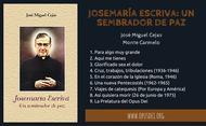 Josemaría Escriva: un sembrador de paz