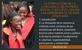 La formación de la conciencia en materia social y política según las enseñanzas de san Josemaría Escrivá