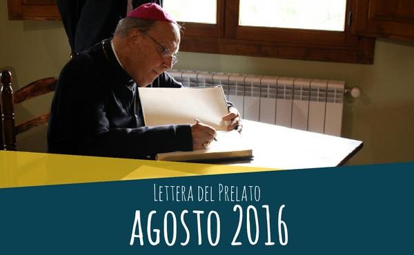 Opus Dei - Lettera del prelato (agosto 2016)