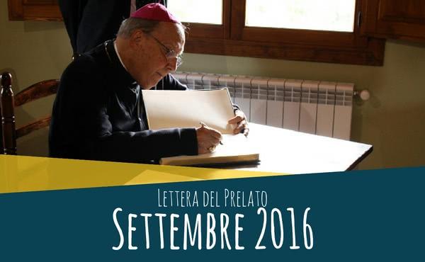 Opus Dei - Lettera del prelato (settembre 2016)