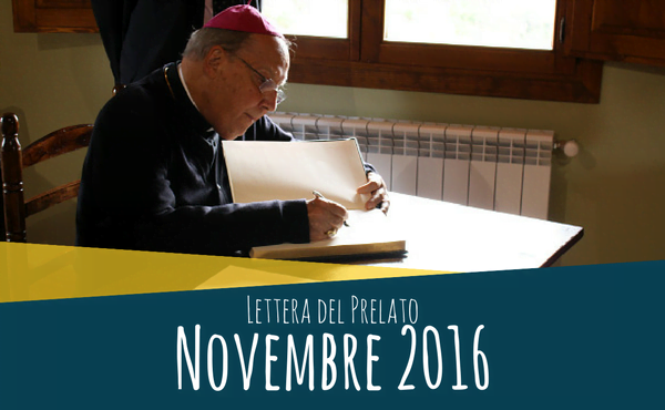 Opus Dei - Lettera del prelato (novembre 2016)