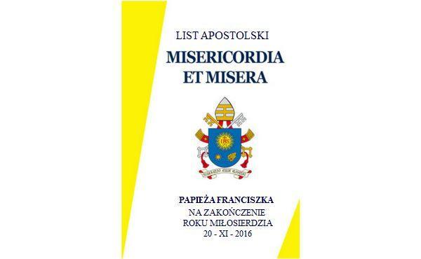 "List Apostolski papieża Franciszka: ""Misericordia et misera"""