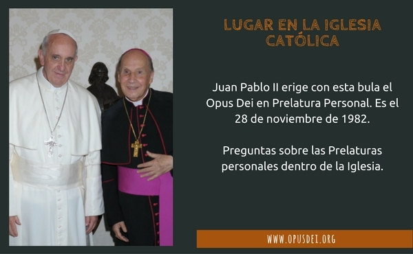 Opus Dei - Lugar en la Iglesia Católica
