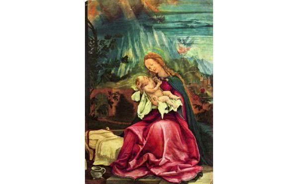 Eine typisch deutsche Darstellung der Gottesmutter