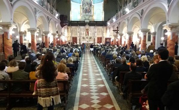 Se celebró la fiesta de san Josemaría en la iglesia de María Auxiliadora