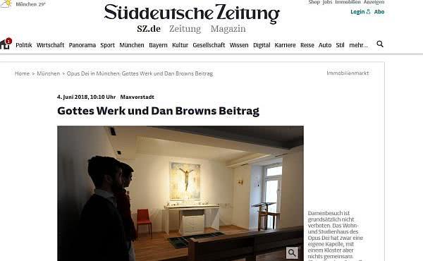 Opus Dei - Die Süddeutsche Zeitung berichtet über Maxtor95 in München