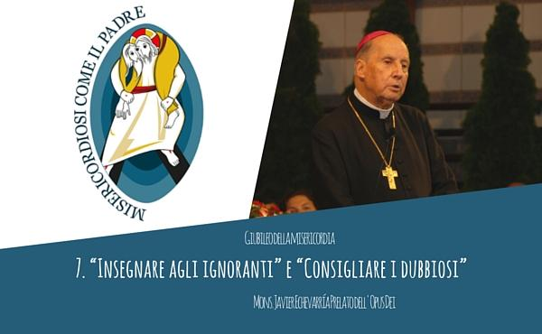 """Audio del Prelato: """"Insegnare agli ignoranti"""" e """"Consigliare i dubbiosi"""""""