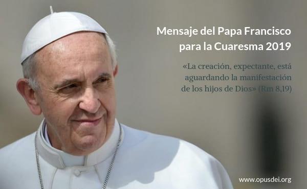 Opus Dei - Ook de schepping verlangt naar openbaring Gods kinderen