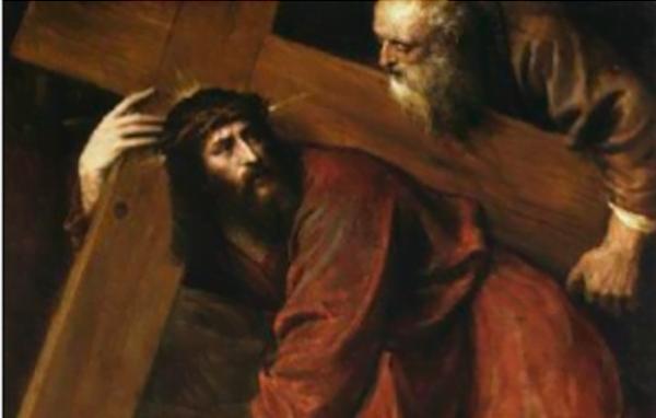 Un ange et un homme,  consolateurs du Christ