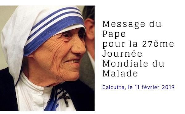 Message du Saint-Père pour la Journée mondiale du malade