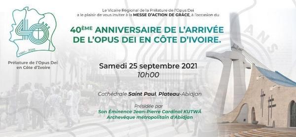 Opus Dei - Le 25 septembre, fin des célébrations des 40 ans de l'Opus Dei en Côte d'Ivoire