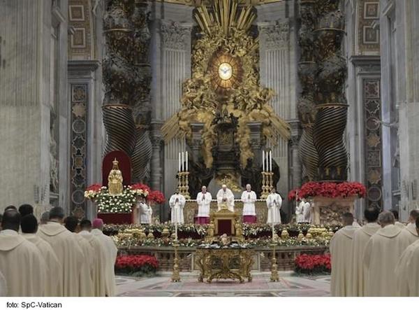 Novoročná homília pápeža Františka: Údiv viery pred Božou Matkou
