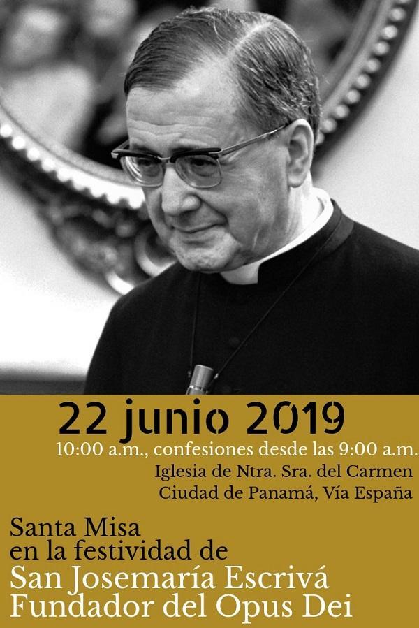 Opus Dei - Misas en la fiesta de San Josemaría (2019): Costa Rica, Nicaragua y Panamá