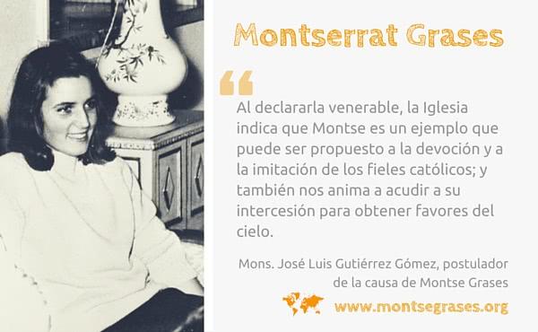 Opus Dei - Montse Grases es declarada venerable