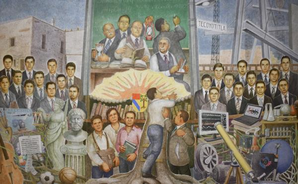Opus Dei - 50 años de historia: Preparatoria de la Universidad Panamericana estrena mural de González Orozco
