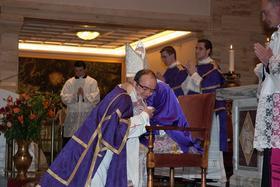 Ordenación de tres diáconos en Roma