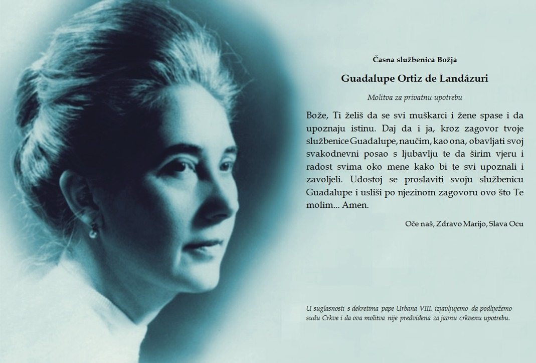 Opus Dei - Molitva za Guadalupin zagovor