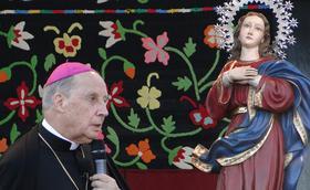 Dichtbij de Maagd Maria om God te danken
