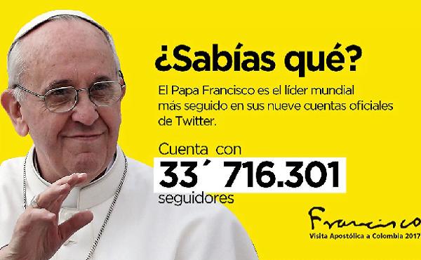 Opus Dei - Twitter del Papa en Colombia