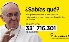 Twitter del Papa en Colombia