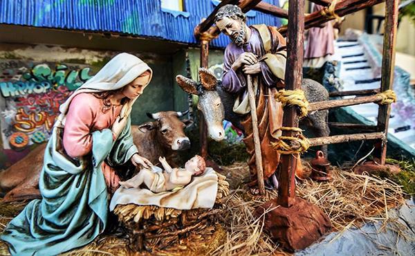 Fotos De El Pesebre De Jesus.Un Establo Para Recibir A Jesus En Pleno Valparaiso Opus Dei