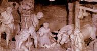 Rezar diante da gruta de Belém