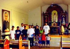 The provisional church was inaugurated on March 3, 2003.