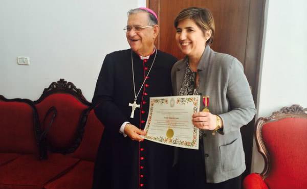 Opus Dei - El Patriarca de Jerusalén concede la Medalla del Santo Sepulcro a una ONG española por 20 años de colaboración