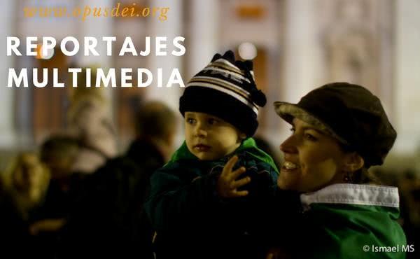 Reportajes multimedia en la página web del Opus Dei